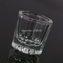 Wholesale Glassware Tool Glass Crystal Cup Acrylic Liquid Powder Kits Nail Art Acrylic Liquid Powder Dish Nail tools
