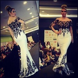 Wholesale 2016 New Modest Long Sleeves Evening Dresses Women Mermaid Prom Gowns Custom Made Kaftan Abaya Dubai Vestidos de Fiesta Party Dresses