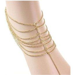 Calidad AAA Grandes de Promoción de la Mujer de Moda de Playa Multi Borla Dedo el Anillo de la Cadena de Enlace Pie de la Joyería Pulsera de Cadena #71139