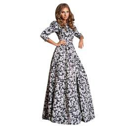 Wholesale HOT Women Retro Long Sleeve Maxi Dress Boho Floral Dresses Club Beach XL
