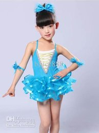 Wholesale Children s stage performance clothing Butterfly ballet clothes girls gauze tutu Dance skirt suit