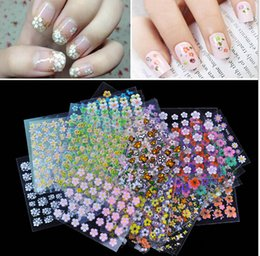 Wholesale 50 Sheets D Colorful Nail Art Design Manicure Decal Stickers Tips DIY Decoratio Nail Art Stickers