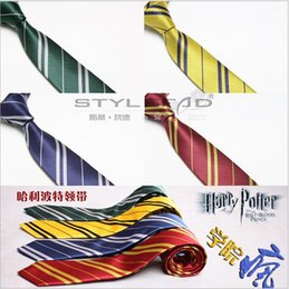 Wholesale 2015 DHL kids necktie Harry Potter college Red yellow blue green neck ties boys girls cosplay ties kids stripe party tie BBB3100