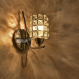 Bathroom Lighting Manufacturers: European Style Bedroom bathroom Stair K9 Crystal Lamp E14 LED Wall Lights  Led Lamp For home,Lighting