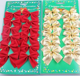 Wholesale Zorn Store Mini cm Christmas Charms Decoration Ornaments Ribbon Bows Red Gold