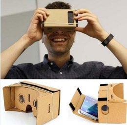 Google VR Lunettes 3D Bricolage Google Cardboard Virtual Reality VR Téléphone Mobile Lunettes 3D pour écran de 5,0
