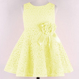 Wholesale 2015 Fashional Big Girls Lace dresses Girl s Summer Princess Dresses Party Dresses for Girls Chidren Clothing Flowergirls Wed Korean Style