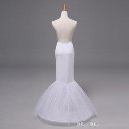 Wholesale 2015 Vestido nupcial de la falda de la crinolina de la enagua de la enagua de la trompeta de la sirena del vestido de boda de las nuevas llegadas Tulle Nupcial