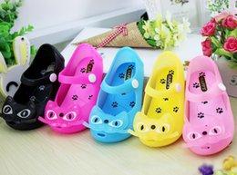 Wholesale Mini Melissa Children s Sandals summer style Kids shoes Cute Cat Rubber Jelly Baby Boys Girls Beach Shoes HX