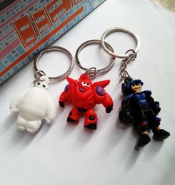 Wholesale Big Hero Baymax D Keychains Cute Robot Doll Bag Charms Pendant Decoration Pocket Keyring Accessories Valentines Gift SK374