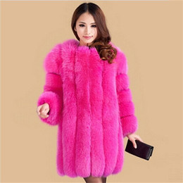 Wholesale European Style Fashion Winter Women Fur Coat Women Clothes Luxurious High Quality Women Fox Fur Coat Winter Coat Size XS XXXL
