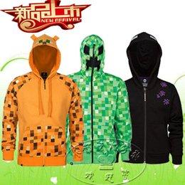 Wholesale 5 styles AAAA quality Hot Sale Minecraft coats minecraft creeper hoodies Minecraft Youth Hoodies coat Minecraft Jacket LJJD1704