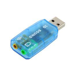 Placa de áudio 3D USB 1.1 Mic / Speaker Adapter Surround Sound 7.1 USB CH externo Sound Card Adaptador de Áudio Para Laptop PC Micro