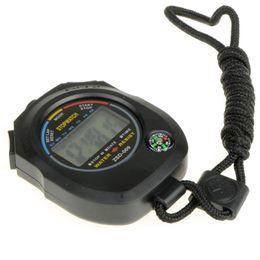 Nouveau Chronomètre Chronomètre étanche Chronomètre Compteur Sport Odomètre Digital Vente Chaud De Grande Qualité Vente En Gros T0178 W0.5