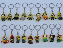 Wholesale 2015 new Many little yellow man doll despicable me god steal dads gift pendant key chain