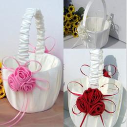 Wholesale Flower Girl Baskets for Wedding Favors Basket Bridesmaid Petal Basket Wedding Accessories Photography Props Bridal Favors New