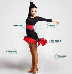 Wholesale Swallow Tails Dresses Black Red Leopard Black Ballroom Dresses Latin Dancing Dresses Tango Dresses Rumba Dresses Cha Cha Dresses Samba Dance