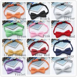Wholesale Children Bow Ties Polka Dots Kids Neck Ties For Clothing Decoration Colors Choose QBB