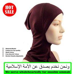 Wholesale Modal muslim hijab cover neck underscarf muslim inner hat hm201
