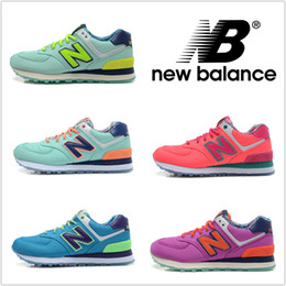 New Balance Running Shoes For Women Sneakers Cheap NB 574 Ocean Series High Quality Retro Athletic Sport Shoes Size 5.5-8 Free Shipping cheap Balance 574
