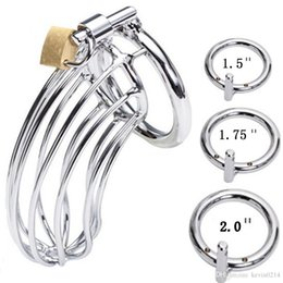 Wholesale Chastity Lock Chastity Cage Devices Steel Cock Penis Restraints Anti masturbation Gear Fetish Sex Toys Product For Men Size A3