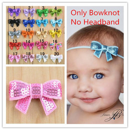 Wholesale 40pcs Shape of bow tie sequin bowknot clothing hair accessories DIY flower accessories Glitter hair bows hair clips