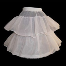 Wholesale 2015 In Stock Mini Short Net Petticoat For Little Girls Ball Gown Formal White Color Underdress Bridal Accessories Cheap Price