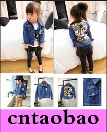 Wholesale Boys Girls Cartoon Pattern Cowboy Jackets Denim Clothes Long sleeve Girls Coat and Jackets Kids Girls Jackets Children s clothes