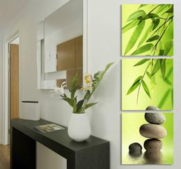Zen Garden Bamboo Modern Wall Art Canvas Oil Painting (no Frameless draw)