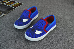 Wholesale 120 pares de zapatos de Spiderman Superman Chicos Cartoon niños Calzado deportivo Superhero niños zapatos zapatos niños zapatos de lona ocasionales para el muchacho