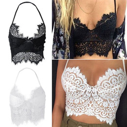 Wholesale New Arrivals Women s Ladies Vest Tops Tank Cami Bralette Bra Bustier Lace Floral Padded Sexy Fashion DX202