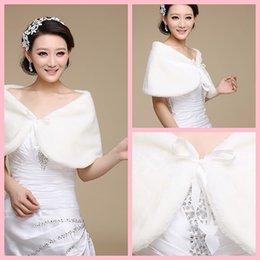 Wholesale 2016 New Faux Fur Wedding Bride Wrap Shawl Cape Tippet Cheap Bridal Jacket
