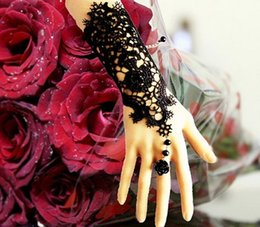 Wholesale Bridal wedding dress Accessorise Vintage Lace Fower Bracelet Ring Elegant Ladies Party Bracelet Hot Sell S018