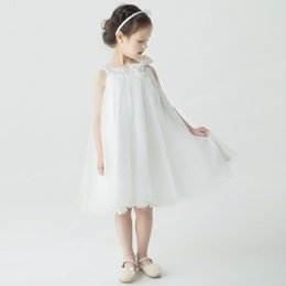 Discount Simple Dress For Little Girl | 2017 Simple White Dress ...