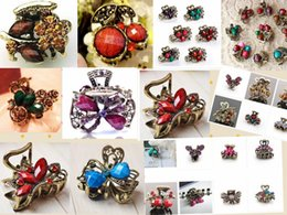 Wholesale hot sell fashion Gorgwous Rhinestone Resin Crystal Flower Hair Clips Clamps Fashion Women Hair Accessory