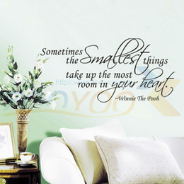 Discount Home Decor Things Sometimes The Smallest Things Home Decor Wall Decal Zooyoo8102 Decorative Adesivo De