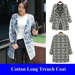 Wholesale Casual Loose Print Trench Coat For Women Kimono Cardigan Manteau Femme Abrigos Mujer Plus Size Trenchcoat Windbreaker Women