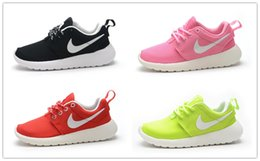 Wholesale Nike Roshe Run Children s Athletic Shoes Boys and Girls Running Shoes Kids Casual Boots Babys Sneakers Sport Shoes Size C Y