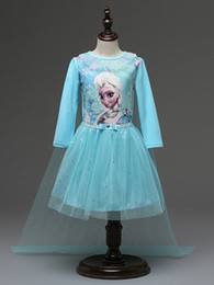 Wholesale 2016 Baby Girl Dress Casual Adorable Dresses for Girls Children Clothing Kids Elsa School Clothes frozen Costume skirts with long cape