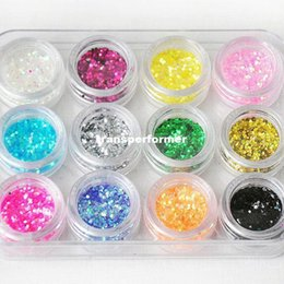 Wholesale 12pcs set Fashion Colors Nail Art UV Gel Extension DIY Builder Set BIG GLITTER nail X05