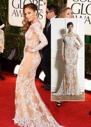 Wholesale Zuhair Murad Formal Prom Dresses Oscar Jennifer Lopez Carpet Celebrity Dress Appliques Full Sleeve Lace Evening Gowns