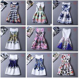 Wholesale Womens Dresses Summer Dress for Women Plus Size Casual Print Dress European Style Vest Vintage Women Clothing Vestidos Dress m1098