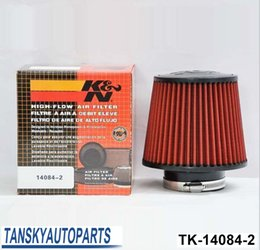 "Air Filter 3"" 76mm Air Intake Filter Height High Flow Cone Cold Air Intake Performance TK-14084-2"