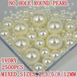 Nenhum buraco redondo Pérolas 2500pcs Formatos Mistos muitas cores para escolher nenhum buraco pérolas de imitação Artesanato Arte Diy PÉROLA muitas cores