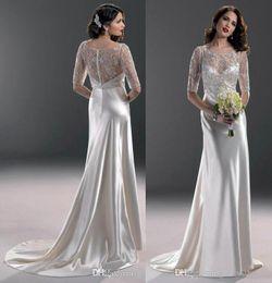 Wholesale 2015 sexy bateau sheath wedding prom evening dresses beads sleeve hollow zipper evening dresses party dinner dresses DHL UPS