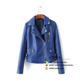 Discount Navy Leather Jacket Women | 2017 Navy Leather Jacket ...