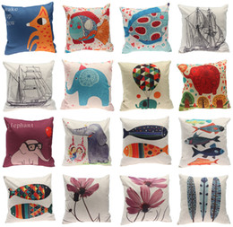 Wholesale Styles Children Kids Cartoon Sleeping Bedding Pillows Cushion Pillow Cases Cotton Printed Cushion Covers Pillowcases cm