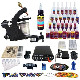 Wholesale Complete Tattoo Kit Pro Rotary Machine Gun Sets Inks Power Supply Needle Grips TK103 By DHL