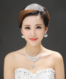 Wholesale 2015 Glittering Wedding Bridal Jewelry Hair Accessories Crowns Crystal Rhinestone Beaded Wedding Dress Accessory Tiara