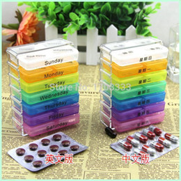 Wholesale Best Price sets Medicine Weekly Storage Pill Day Tablet Sorter Box Pills Boxes Container Case Organizer